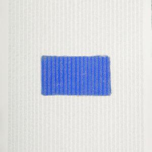 """Proceso VI"", 2013, Serie: Procesos, Grapas sobre papel de algodón, 57 x 76 cm."