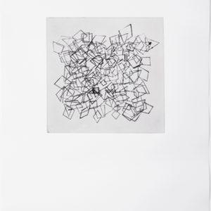 «Sin Titulo IV», 2017, Serie: Paisajes Blancos, Grabado: Punta Seca sobre papel de algodón, 34 x 43 cm.