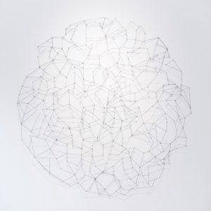 """""""No. 2"""", 2015, Serie: Sin Título, Metal amarrado, 166 cm. (diámetro)."""