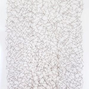 """""""No. 1"""", 2014, Serie: Sin Título, Metal soldado, 250 x 160 cm."""