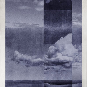 """Untitled I"", 2017, Series: Landscapes, Digital print and silver foil, 34 x 43 cm."