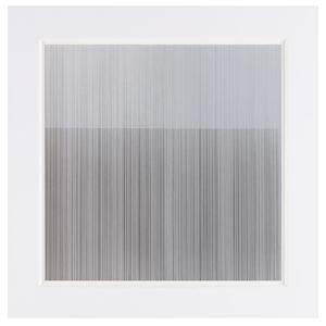 «Espacio IV», 2017, Serie: Direcciones, Grabado digital, crayón y lápiz, 50 x 50 cm.